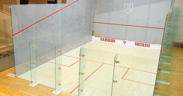 Squash court. Glass i Idrettshaller, gymnastikksaler og badeanlegg