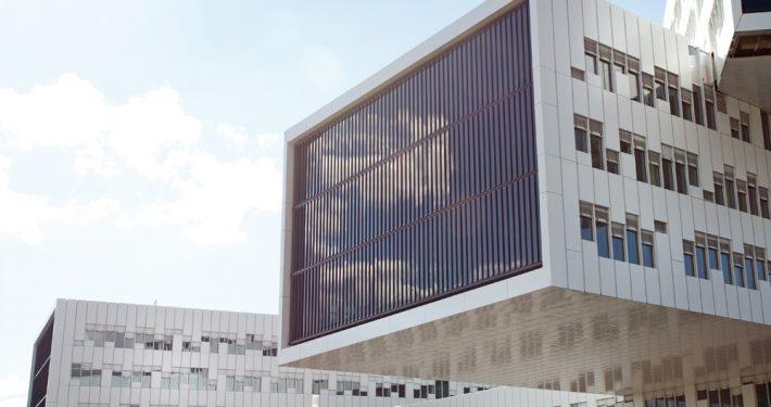 Utvendig solskjerming. Statoilbygget Fornebu. Foto: ©Adam Stirling