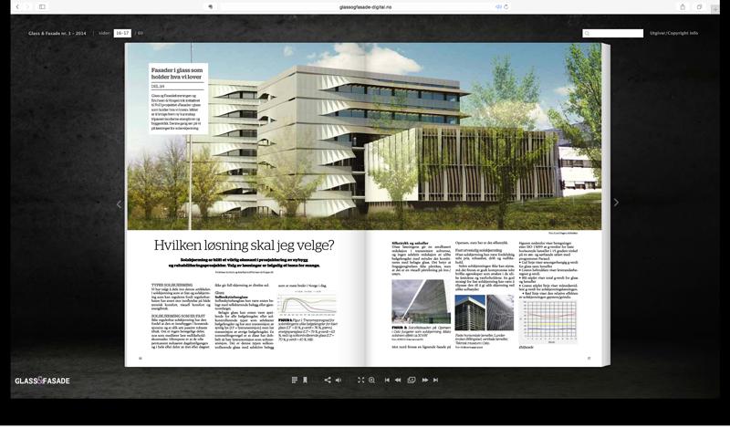Foto av oppslag i magasinet
