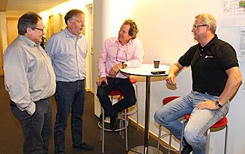 Foto av Jan Tore Holm, Jan Heggelund, Bue Kjelstrup Olsen og Kenneth Sande.