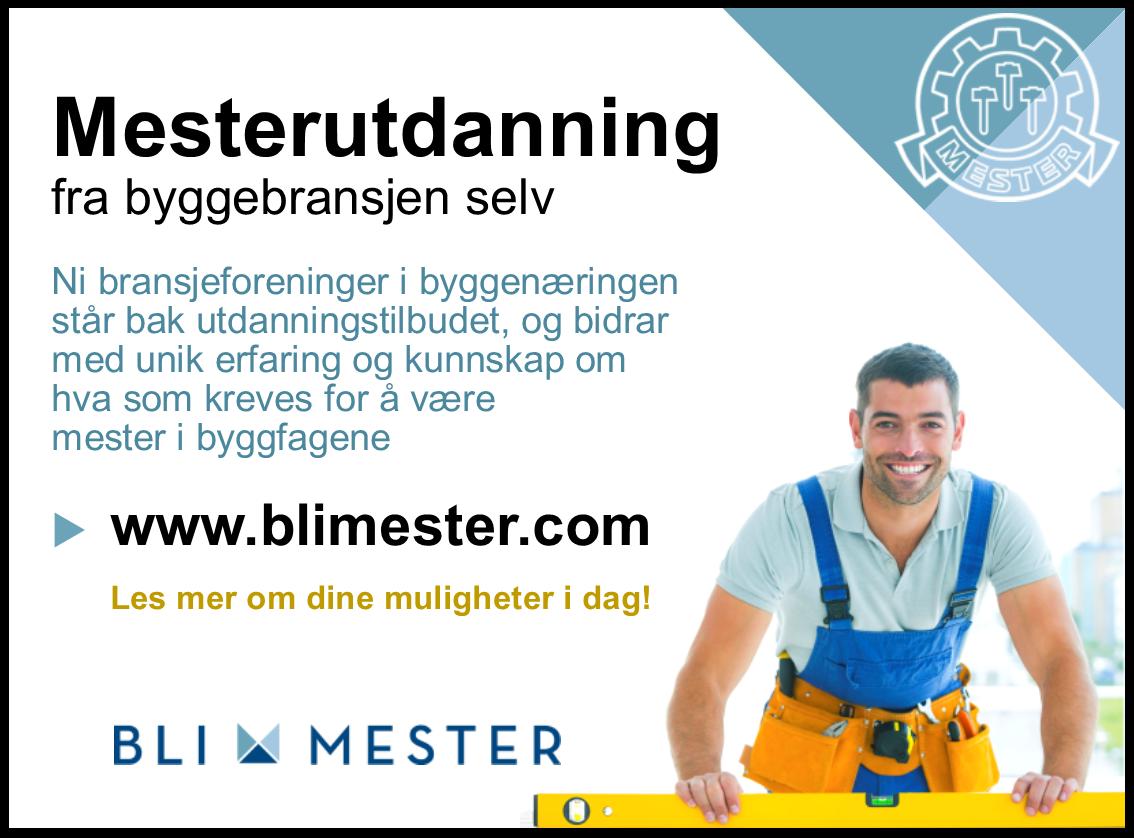 Annonse Mesterutdanning for byggebransjen