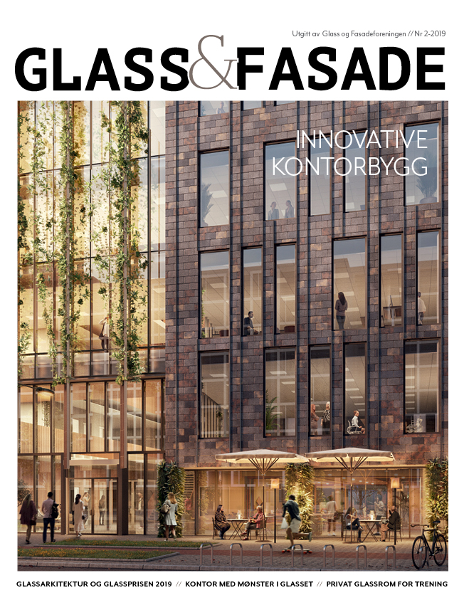 Cover til magasinet Glass & Fasade utgave 2-2019