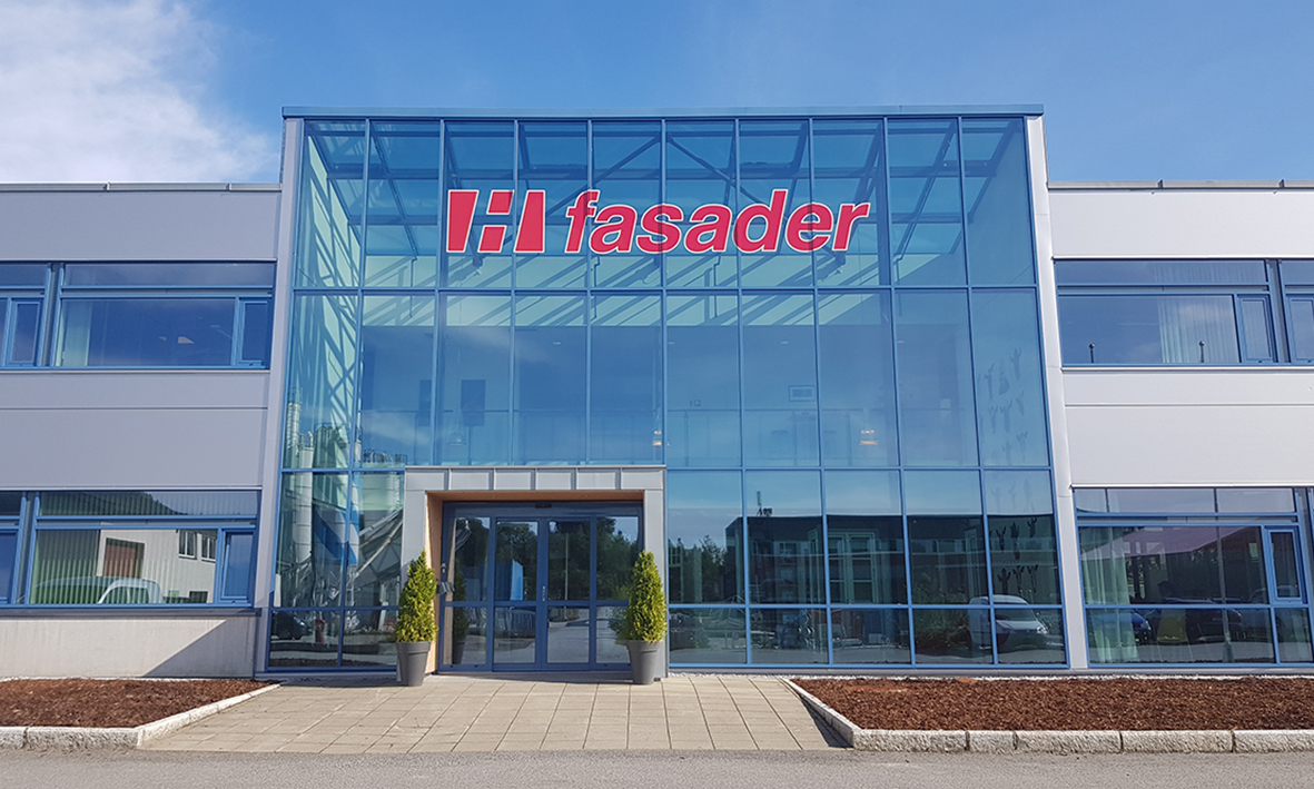 Foto av H-fasaders glassbygg