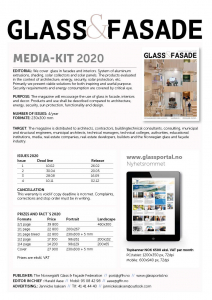 Cover mediekit 2020 - the magazine Glass and Facade