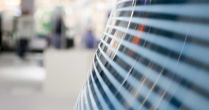 Foto av utstilling på glassmessen glasstec