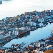 Foto av Bergen.