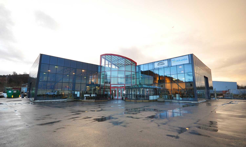 Foto av glassbygget til Veranda Bergen AS