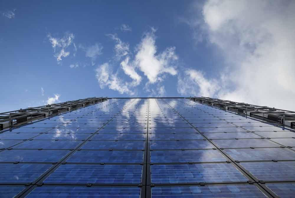 Foto av solcellepaneler