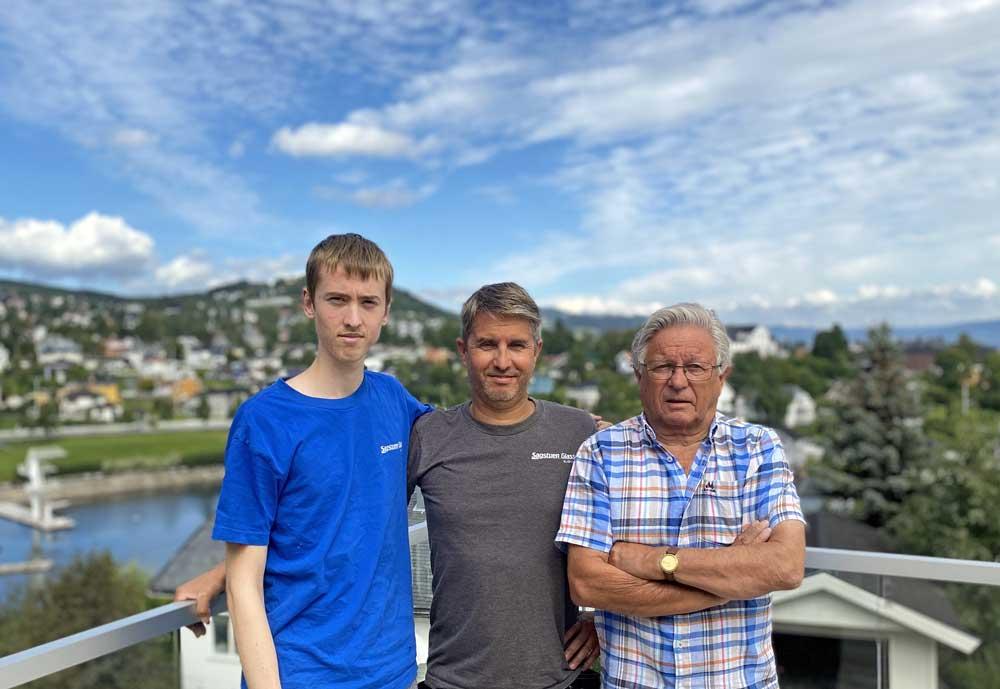 Foto av Kasper, Rune og Jan Erik Sagstuen.