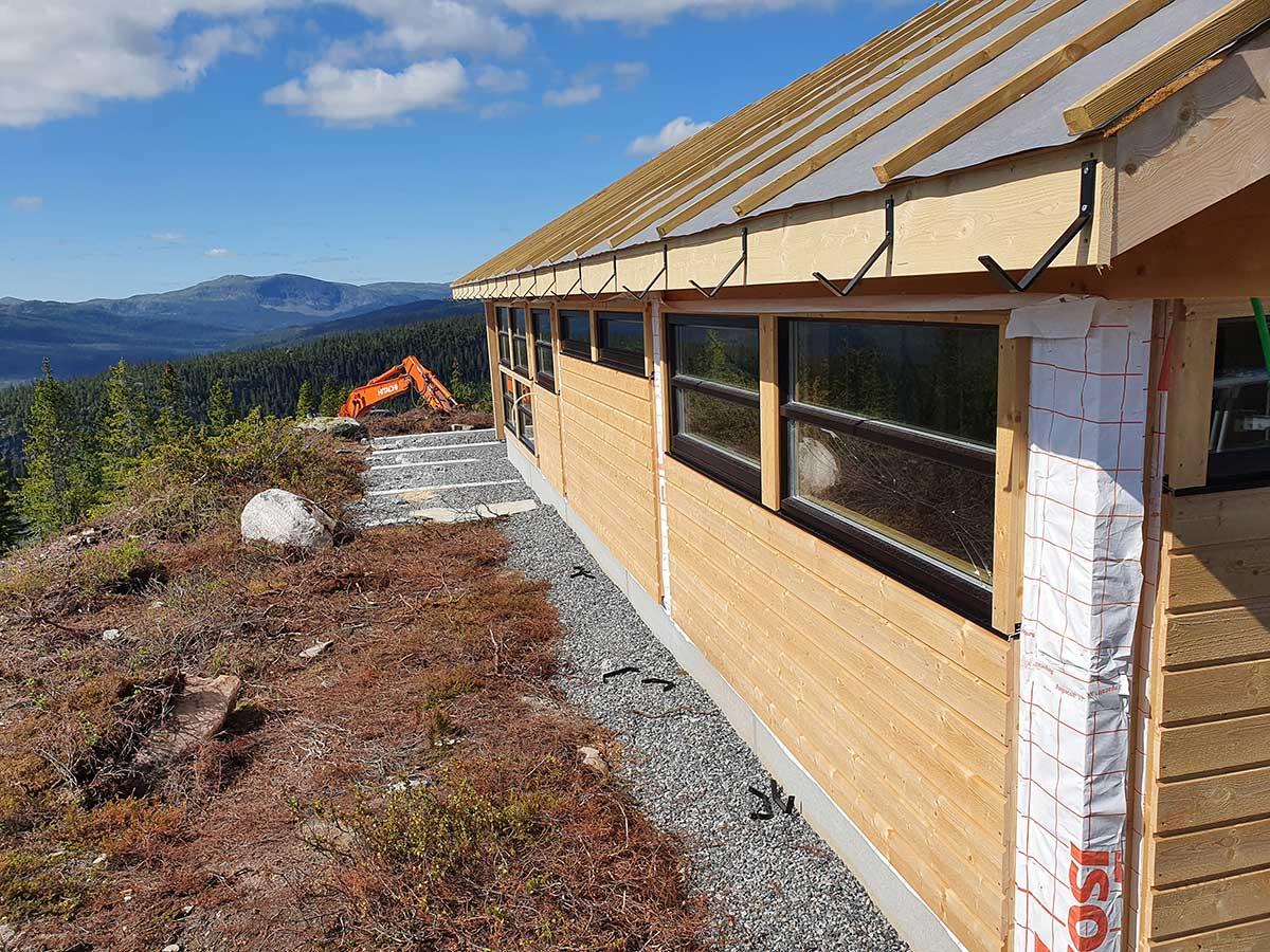 Foto av hytte