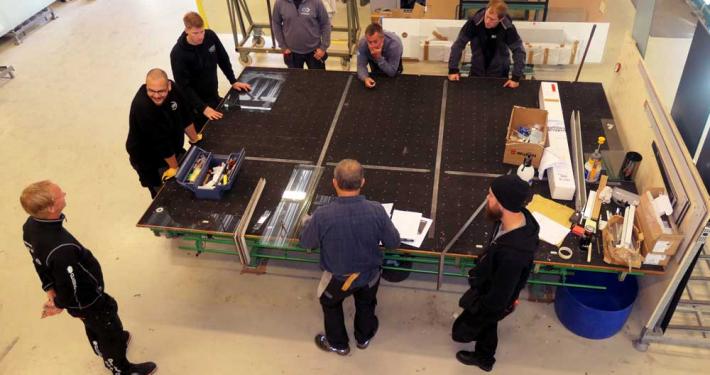 Foto fra Ås glassverksted