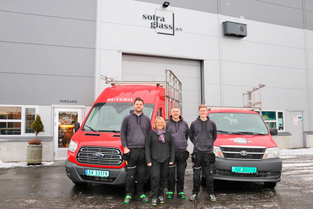 Foto av ansatte i Sotra Glass AS