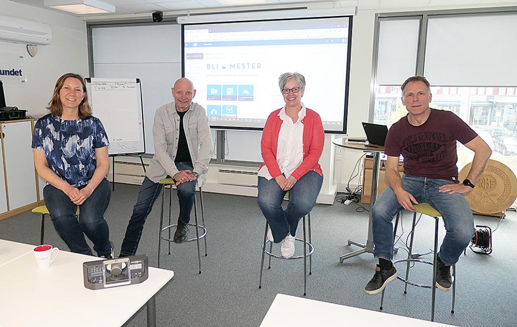 Foto av Beate Solem, Per Henning Graff, Marie Aarbogh og Atle Engholm.