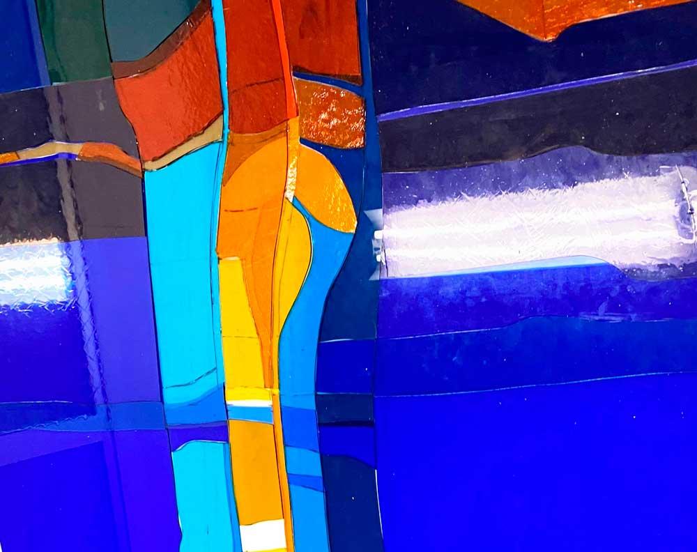 Foto av glassmaleri