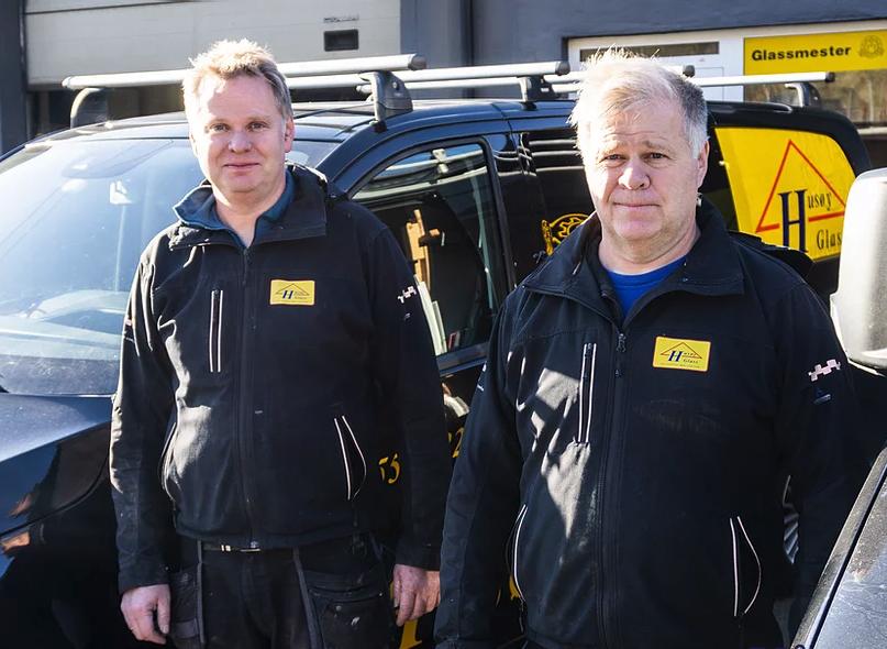 Foto av Svein Olav Husøy og Leif Atle Husøy og