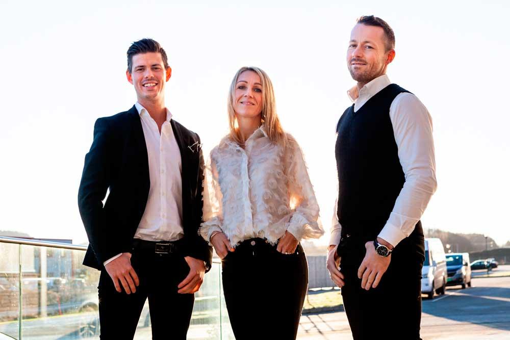Foto av Einar Bjerkelund, Therese Haugen og Bjørn Myhre Nilsen