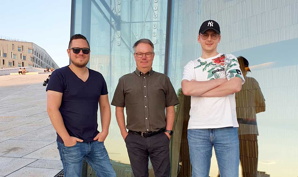 Foto av Eirik Andersen, Andre Jenssen og Alexey Pavlovskiy