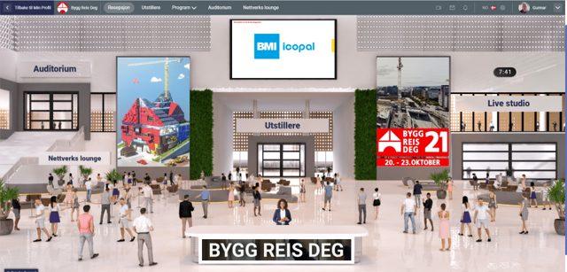 Illustrasjon av digitalmesse for Bygg Reis Deg