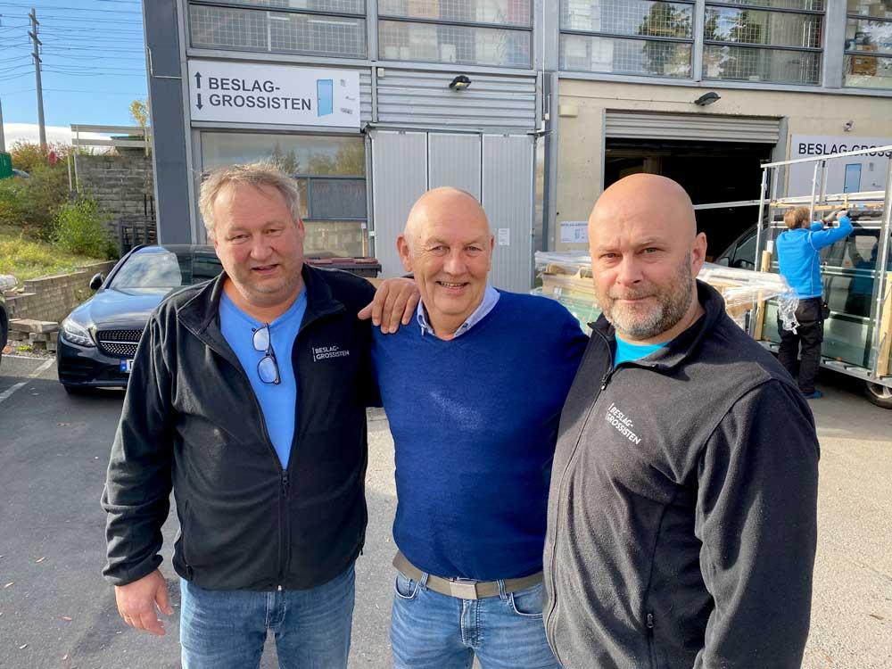 Foto av Trond Kolstad, Svein Tømte og Tore Staum